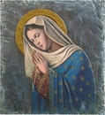 Avalon Gallery YC570 Marco Sevelli Tile Plaque - Our Lady Of The Rosary