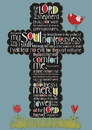 Christian Brands YC886 Large Poster Psalm 23