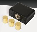 Sudbury YD066 Holy Oil Stock Set Of 3 In Case, Polished Brass