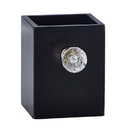 Christian Brands YD118 Empty Pen Holder - Black, Clear Crystal Knob