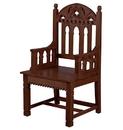 Robert Smith YD937 Gothic Celebrant Chair - Walnut Stain