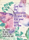 Christian Brands YS615 Verse Cards God Has The Perfect Plan