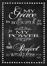Christian Brands YS652 Large Poster My Grace Is Sufficient
