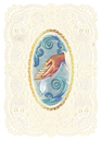 Ambrosiana YS776 Deluxe Embossed Holy Card - Baptism