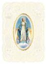 Ambrosiana YS783 Deluxe Embossed Holy Card - Our Lady Miraculous