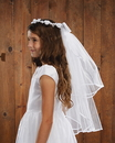 Sacred Traditions YT076 Floral Tiara First Communion Veil