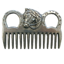 Intrepid International Aluminum Mane Comb W/Horse Head