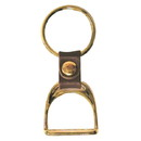 Intrepid International Brass Stirrup Key Ring
