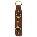 Intrepid International Leather Key Fob w/Snaffle Bit