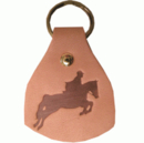 Intrepid International Leather Stamped Jumper Key Fobs