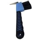 Intrepid International Rubber Grip Hoof Pick with Brush