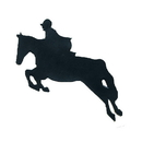 Intrepid International Horse Magnets - Sm Face Left Black