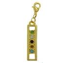 Exselle Zipper Pull w/Color Stones
