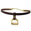 Exselle Stirrup On Leather Choker