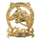 Intrepid International Solid Brass Horse Head Key Ring Holder
