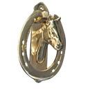Intrepid International Solid Brass Horse Head Door Knocker