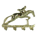 Intrepid International Solid Brass Jumper Key Ring Holder