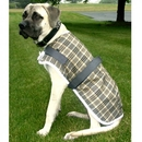 Intrepid International High Spirit Fleece Plaid Dog Coat - Reflect Strip