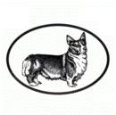 Intrepid International Dog Decal - Welsh Corgi Pembroke