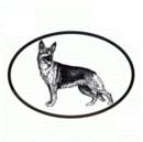 Intrepid International Dog Decal - German Shepherd