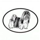 Intrepid International Dog Decal - Lhasa Apso