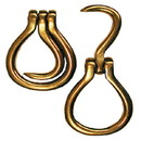 Intrepid International Brass Folding Hoof Pick