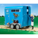 Traditional Two Horse Trailer Blue