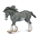 Breyer Corral Pals Black Sabino Roan Clydesdale Stallion