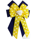 Intrepid International Ellie's Bow Navy and Yellow