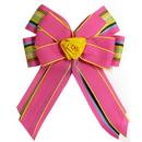 Intrepid International Ellie's Bow Pink and Multi Stripe
