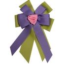 Intrepid International Ellie's Bow Purple and Green