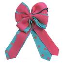 Intrepid International Ellie's Bow Pink and Light Blue