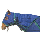 Intrepid International Snuggie Quilted Hood-Navy