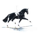 Haddington Green Equestrian Art Jan Kunster Horse Prints - Las Vegas (Dressage)
