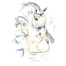 Jan Kunster Horse Prints - San Marino (Dressage)