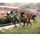 Margaret Barrett Horse Prints - In the Snow Cheltenham (Horse Ra