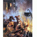 Sally Mitchell Fine Art Dog Prints - Pot Watching