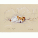 Corinium Fine Art Dog Prints - Terrier on Bed