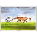 Haddington Green Equestrian Art Jude Too Greeting Cards - Joys of Spring - 6 pack