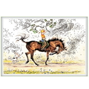 Haddington Green Equestrian Art Jude Too Greeting Cards - Mounted Aerobics - 6 pack