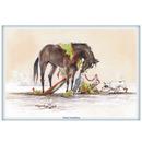 Haddington Green Equestrian Art Jude Too Greeting Cards - Winter Wonderland - 6 pack