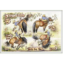 Haddington Green Equestrian Art Jude Too Greeting Cards - 4 Rules of Riding - 6 pack