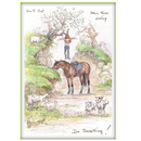 Haddington Green Equestrian Art Jude Too Greeting Cards - Horses - Do Something - 6 pack
