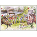 Haddington Green Equestrian Art Jude Too Greeting Cards - This Always Happens when they Walk the
