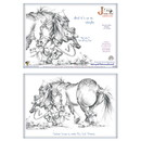 Haddington Green Equestrian Art Jude Too Greeting Cards - Perfect Horse - 6 pack
