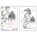 Haddington Green Equestrian Art Jude Too Greeting Cards - She Said Submit - 6 pack