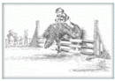 Jude Too Greeting Cards - Horses - Going For A Safe Clear - 6 pa