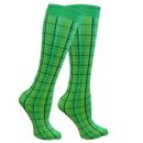 Intrepid International WOW Highland Plaid Knee Socks
