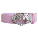 Intrepid International WB901 Wow Ladies Double Horse Head Buckle Belt Pink