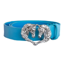 Intrepid International WB902 Wow Ladies Double Horse Head Buckle Belt Light Blue